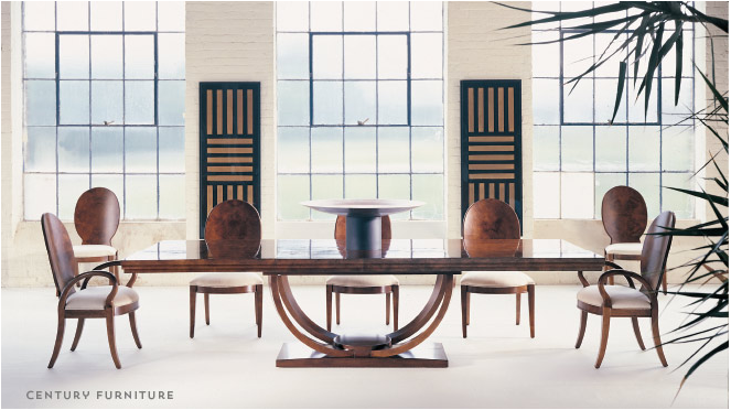 Dining table: Century Furniture, more detail on http://hadleycourt.com