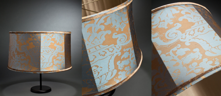 Vintage Fortuny lampshade || Created by Illume NY