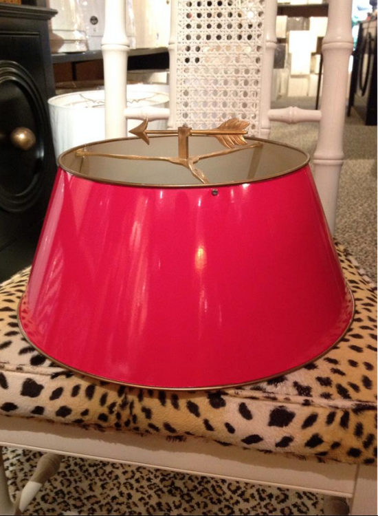 Luxury Red Lacquer Lampshade || Illume NYC