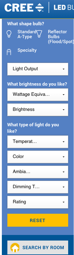 Cree Bulbs's lighting calculator || Source: http://cree.com