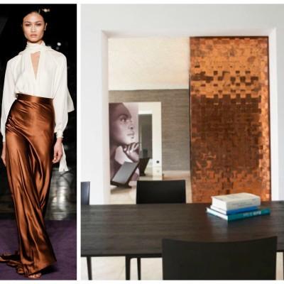Welcoming Fall: Warm Metallics in Fashion + Decor