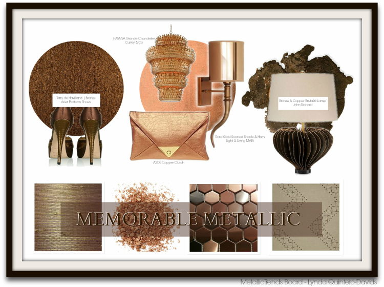 METALLICS TREND BOARD - HPMKT FALL by Lynda Quintero-Davids for Hadley Court Interior Design Blog - Fashion & Decor guest post