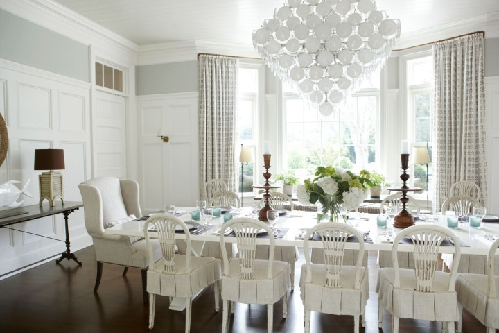 """A full image of the dining room on the cover of """"In Pursuit of Beauty"""", written by Timothy Whealon"""