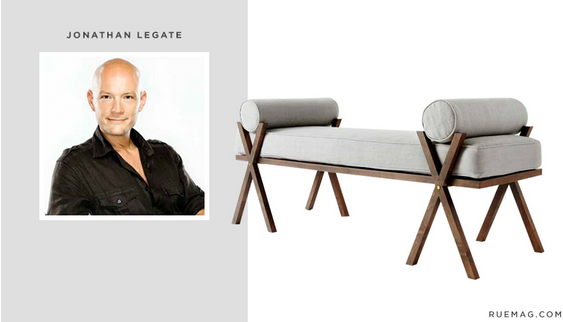 www.hadleycourt.com || Fall 2015 #HPMKT StyleSpotter Jonathan Legate || Katy Skelton Collection *Camp* bench