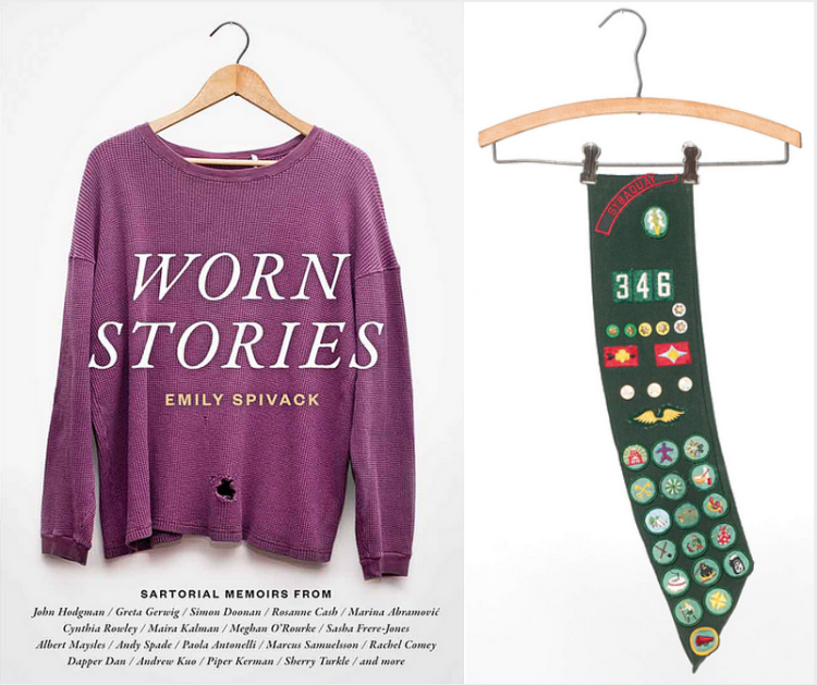"Fashion Designer Cynthia Rowley's girl scout sash in the book ""Worn Stories"""