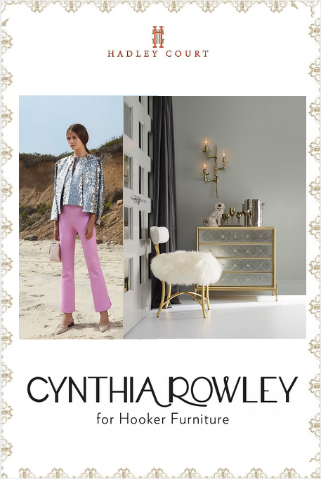 Cynthia Rowley for Hooker Furniture || Curious Collection || www.hadleycourt.com || Collage created by The Kaleidoscope Partnership