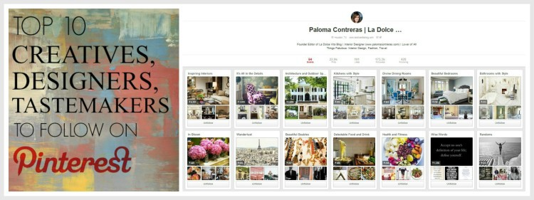 Top 10 Pinners To Follow - by Lynda Quintero-Davids for Hadley Court - follow Paloma Contreras ii