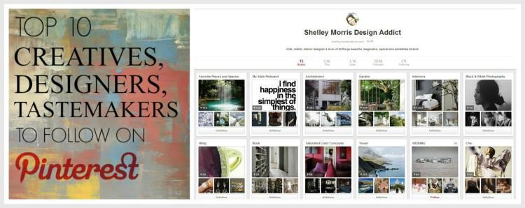 Top 10 Pinners To Follow - by Lynda Quintero-Davids for Hadley Court - follow Shelley Morris ii