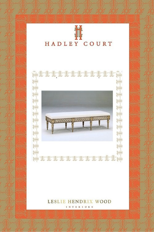 Fall 2015 #HPMKT New Product Intro || SWEDE COLLECTION bench w/storage || Leslie Hendrix Wood Interiors || http://hadleycourt.com