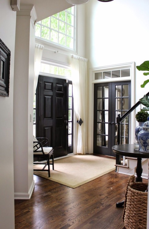 black interior doors add instant drama to any space