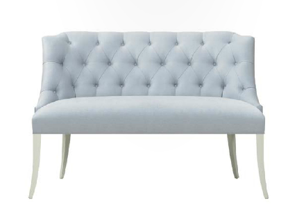Thibaut Fine Furniture: Bel Aire settee || www.thibautdesigns.com ||As seen on www.hadleycourt.com