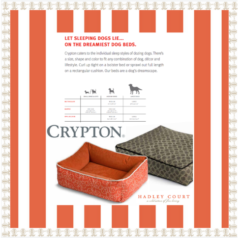 Fall 2015 #HPMKT StyleSpotter sponsor, Crypton Home's dog beds, available online || Collage creation credit: Leslie Carothers /@tkpleslie