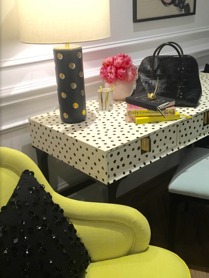 The Downing Desk by Kate Spade New York Home, designed by Deb Camplin || Fall 2015 #HPMKT ||Image Credit: Leslie Carothers/@tkpleslie