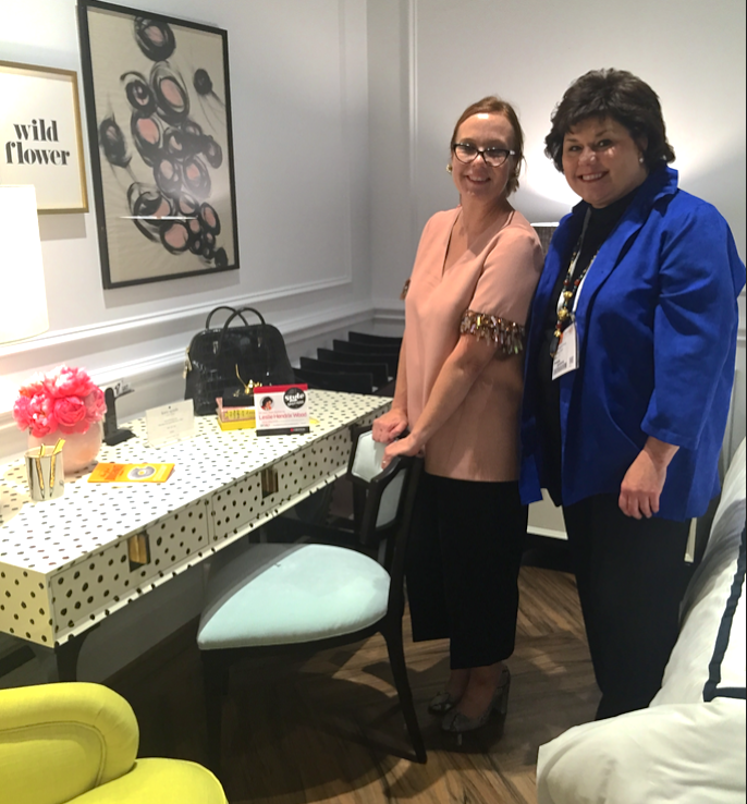 Deb Camplin, senior vice president of design for Kate Spade New York Home with Midland, Texas interior designer and 2015 Stylespotter, Leslie Hendrix Wood, owner of the Hadley Court blog.