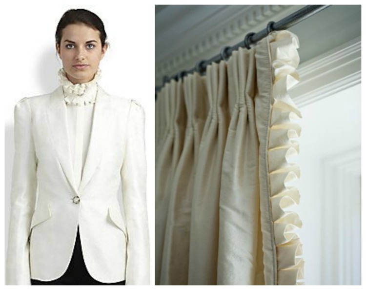 Simply White Fashion & Decor design duet for Hadley Court by Lynda Quintero-Davids - Tailored ruffle detail