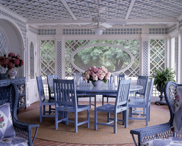 Interior Design: Anthony Baratta *Love is Blue* dining room
