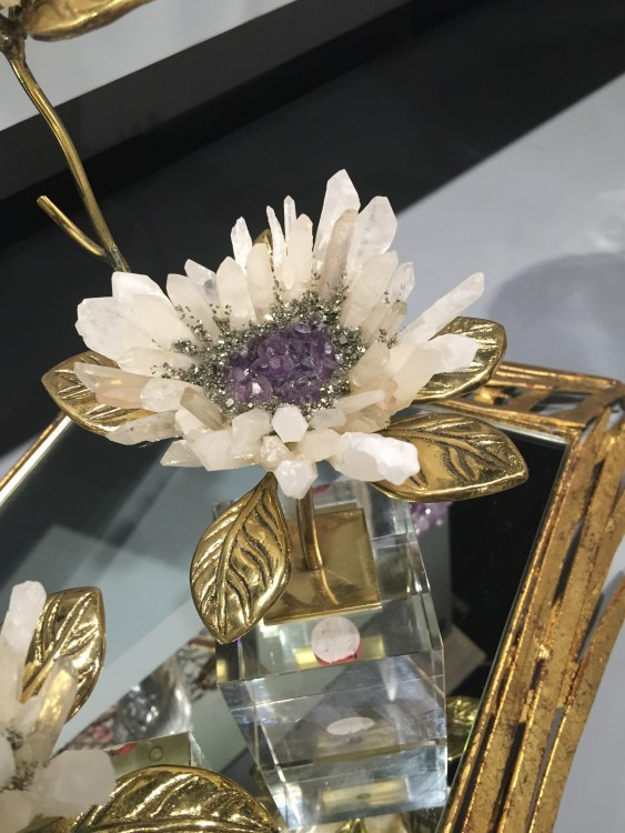 John Richard Collection Crystal Flower || StyleSpotted by Leslie Hendrix Wood at Fall #HPMKT 2015 || Image Credit: Leslie Carothers/@tkpleslie