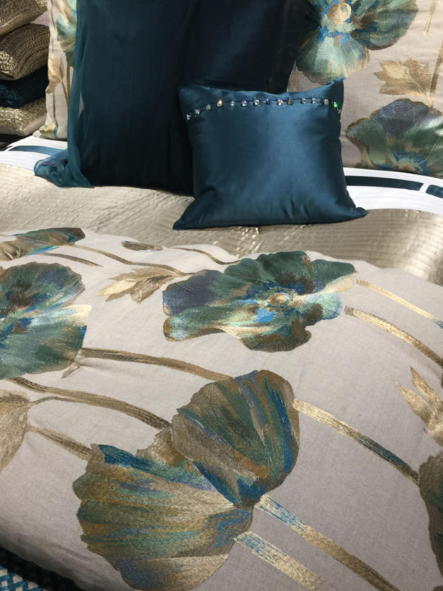 A bedding collection from Aviva Stanoff Fall 2015 #HPMKT || Image Credit: Leslie Carothers for Hadley Court