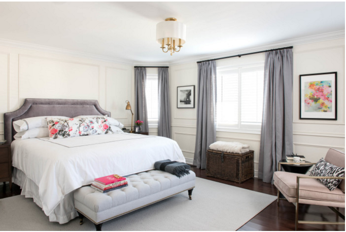 Ontario, Canada designer Vanessa Francis' bedroom *AFTER* for the Fall 2015 #OneRoomChallenge