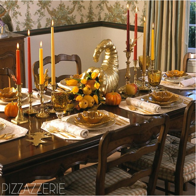 Thanksgiving tablescape by Brentwood, TN based Phronsie Dial