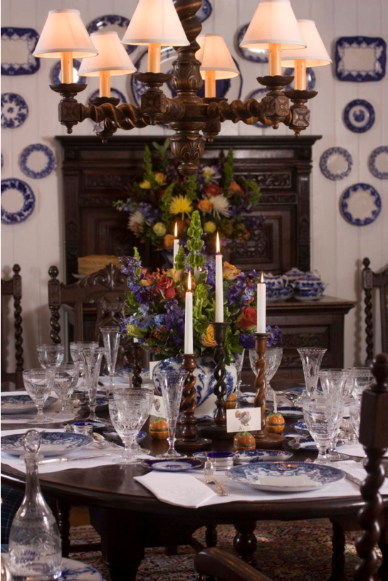 The Thanksgiving table of interior designer Kathryn Greeley and her family.