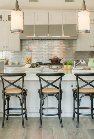 Kitchen Inspiration! Metallic Tile Backplashes!