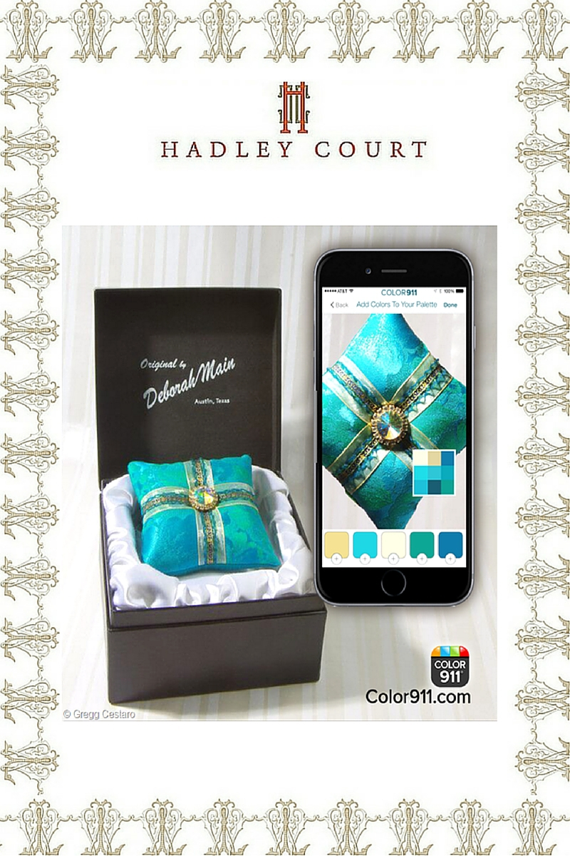 Deborah Main boxed ornament pillows + Amy Wax's Color 911 app - Hadley Court #Holiday2015 *Top 10* Gift Selections