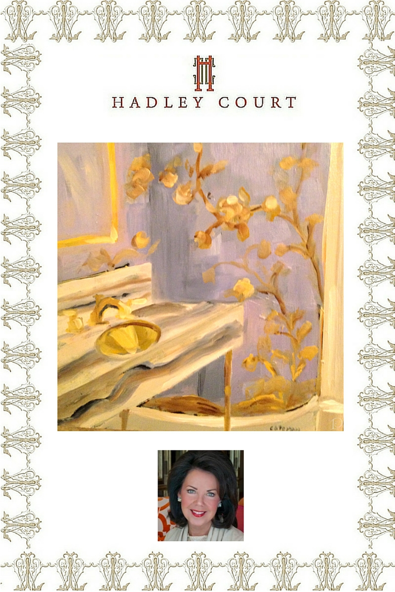 Custom paintings of interiors scenes by Boston based artist Pamela Copeman - A Hadley Court #Holiday2015 *Top 10* Gift Selection