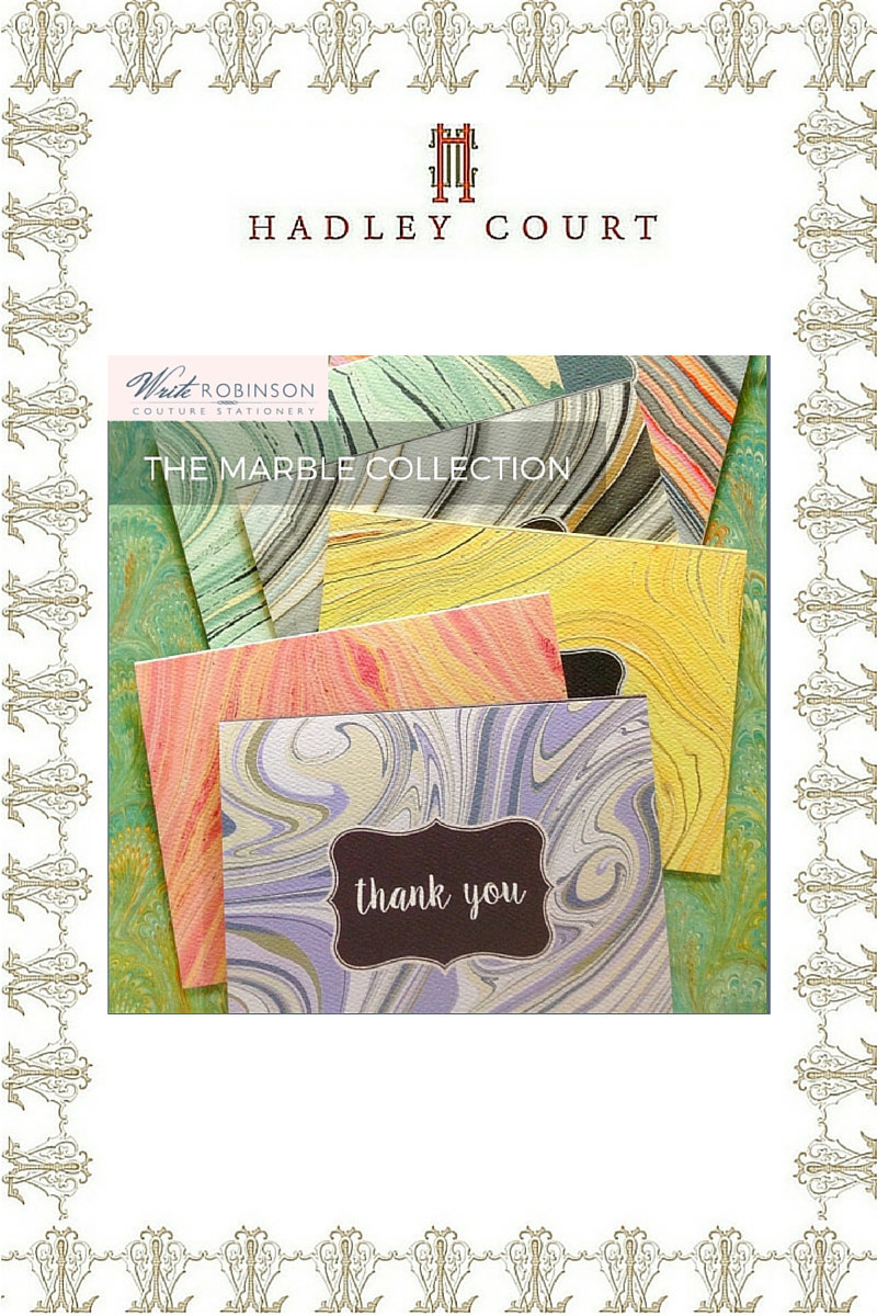 Write Robinson Couture Stationery *Thank You* Notes - A Hadley Court #Holiday2015 Top 10 Gift Selection