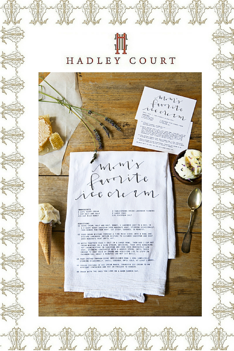 Heirloomed Collection's Family Recipe Cloth & Card Set - A Hadley Court #Holiday2015 *Top 10* Gift Selection