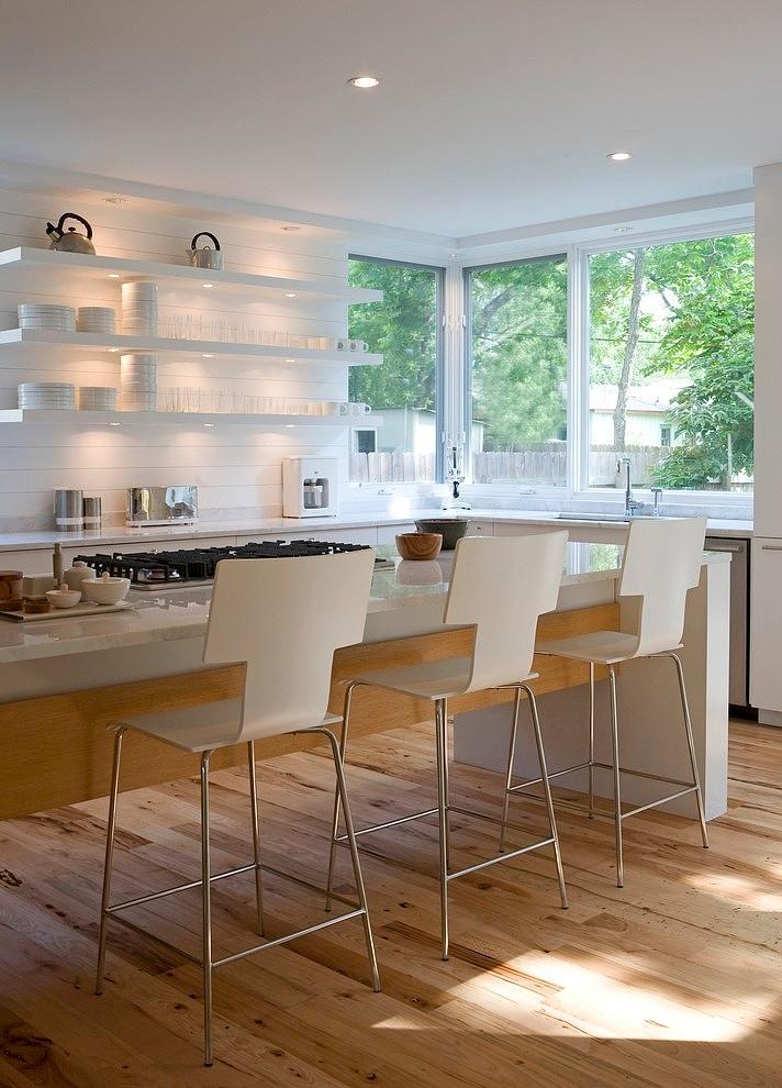 Backlit Kitchen Open Shelving - Architect: David Webber, Austin || Image Credit: Jacob Termansen