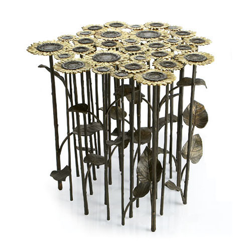metal flower table