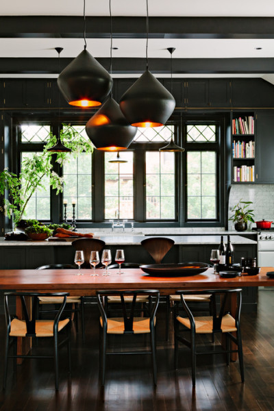 Inspiration! Black Kitchens