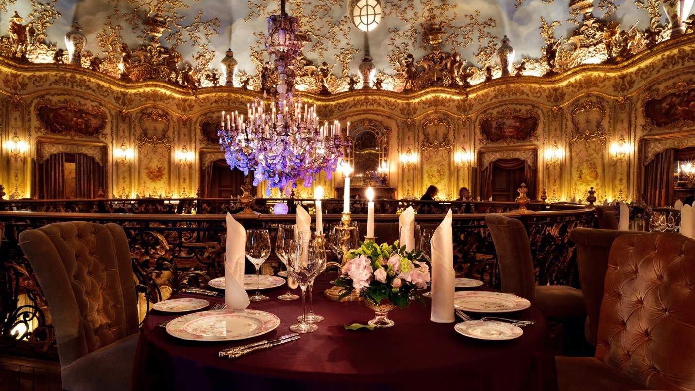 Escape to the most beautiful restaurants in the world for Most beautiful dining rooms in paris