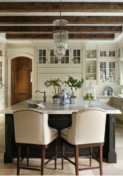 Inspiration! Beamed Ceiling Kitchens