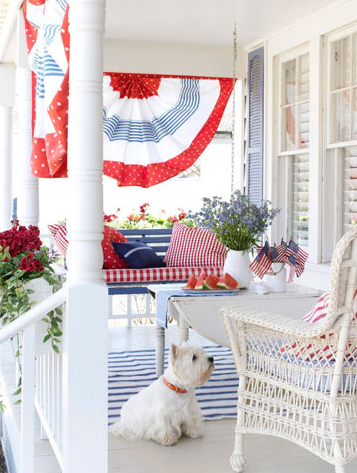 Photo of Red and Blue Pillows for 4th of July Decoration Ideas