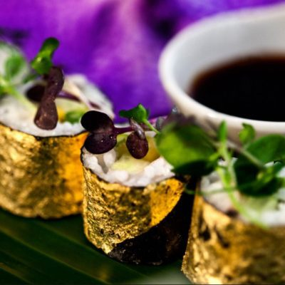INSPIRED ENTERTAINING WITH MANETTI EDIBLE GOLD LEAF!