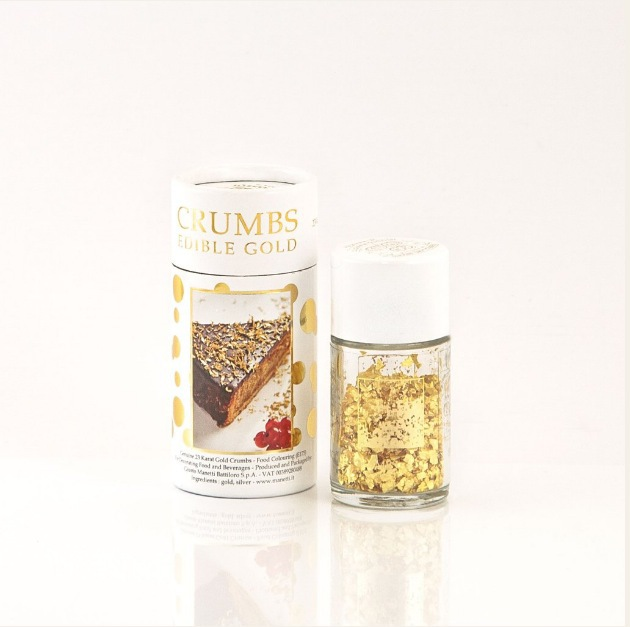 Edible Gold Crumbs for food decoration