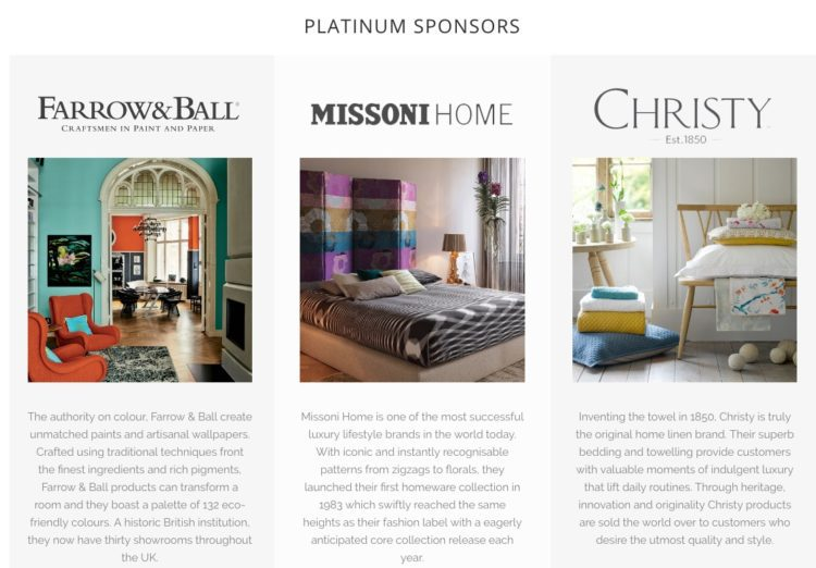 sponsors of #IBA16 amara living interior blog awards