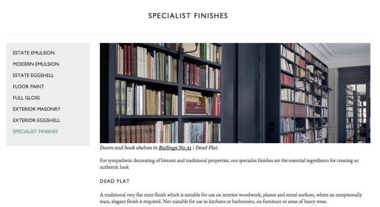 farrow and ball specialist paint finishes