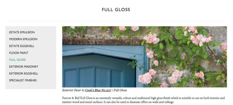 farrow and ball full gloss specialist paint finish