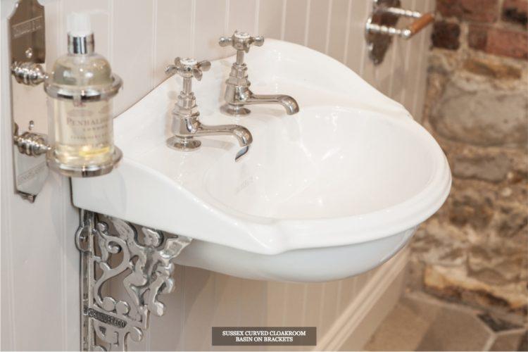 luxury bathrooms Chadder & Co. single pedestal sink made in england