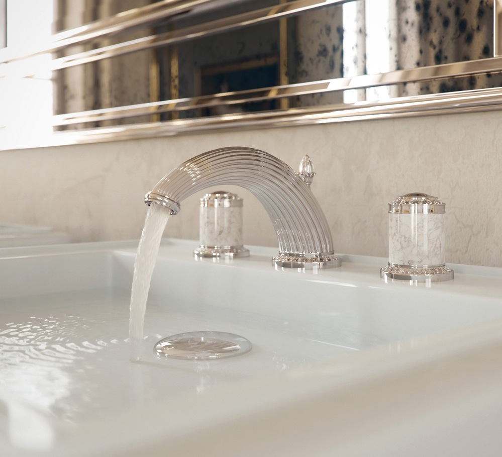 Luxury bathroom fittings from THG Paris, inspired by Chateau de la Malmaison in Paris