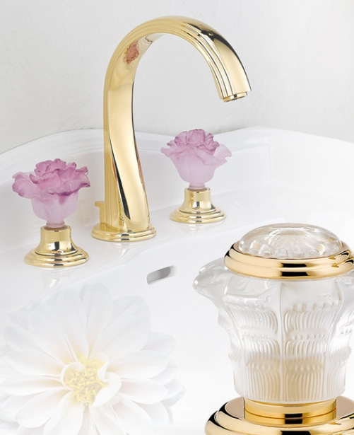 Daum Crystal luxury faucet and taps by THG Paris