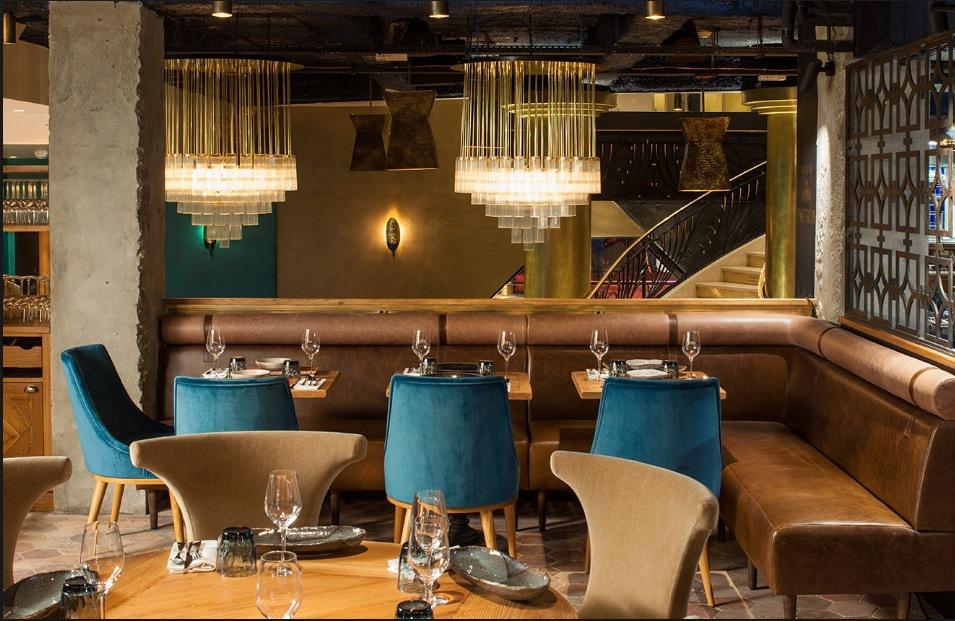 The Manko Restaurant in Paris, designed by Laura Gonzalez
