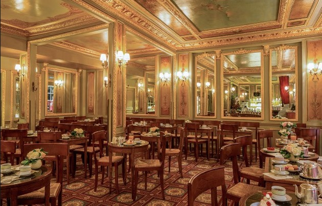 Laduree Royale, the original 1862 tearoom in Paris.