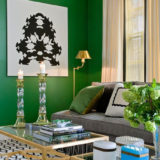 East facing rooms often appears blue, they recommend sticking with greens and blues