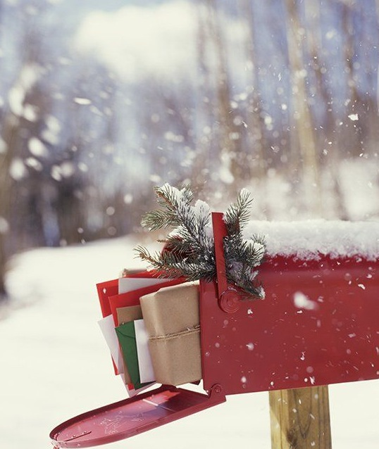What's better than opening a pretty red Christmas mailbox and seeing holiday cards and gifts?