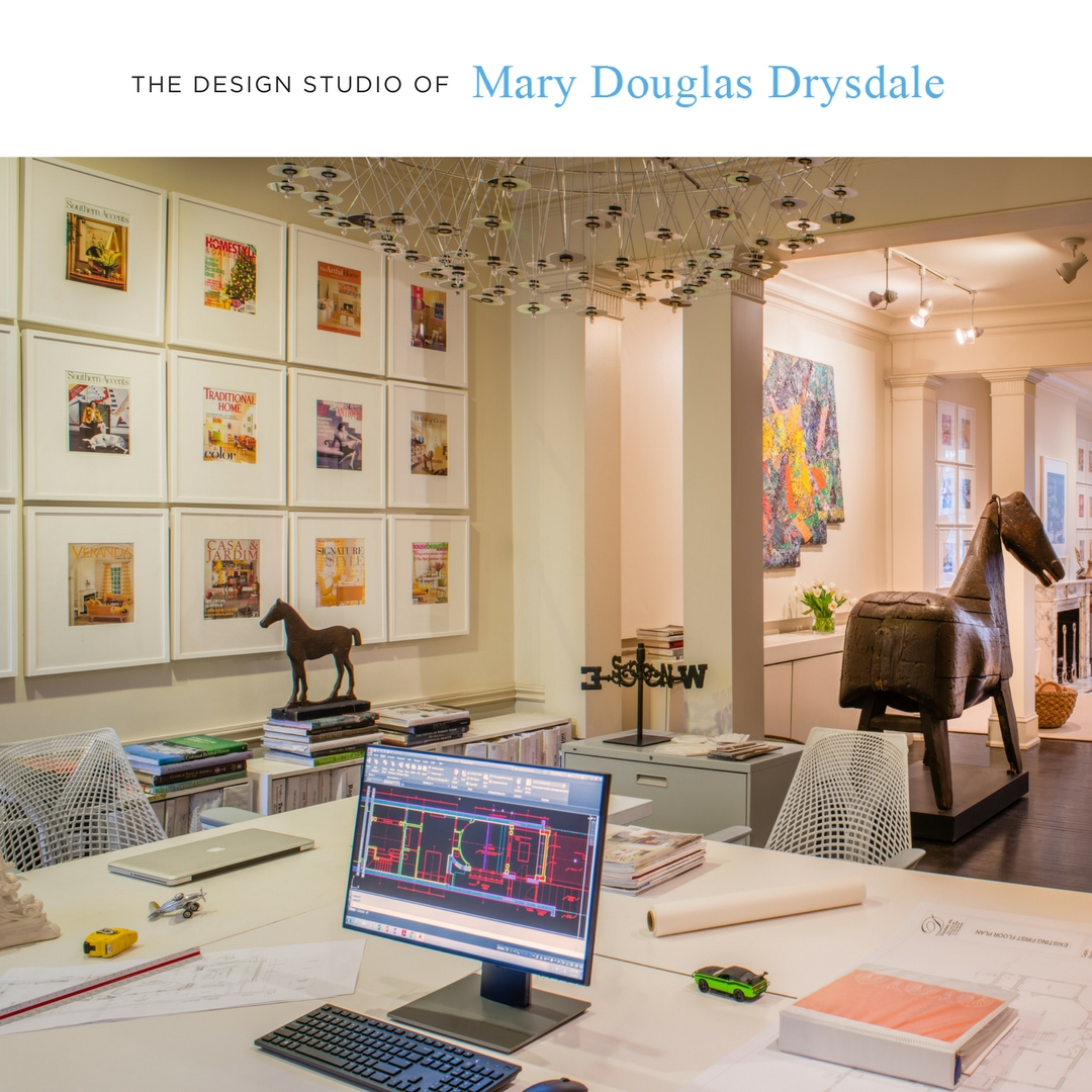 The gorgeous design studio of Mary Douglas Drysdale, on Dupont Circle in Washington, DC.