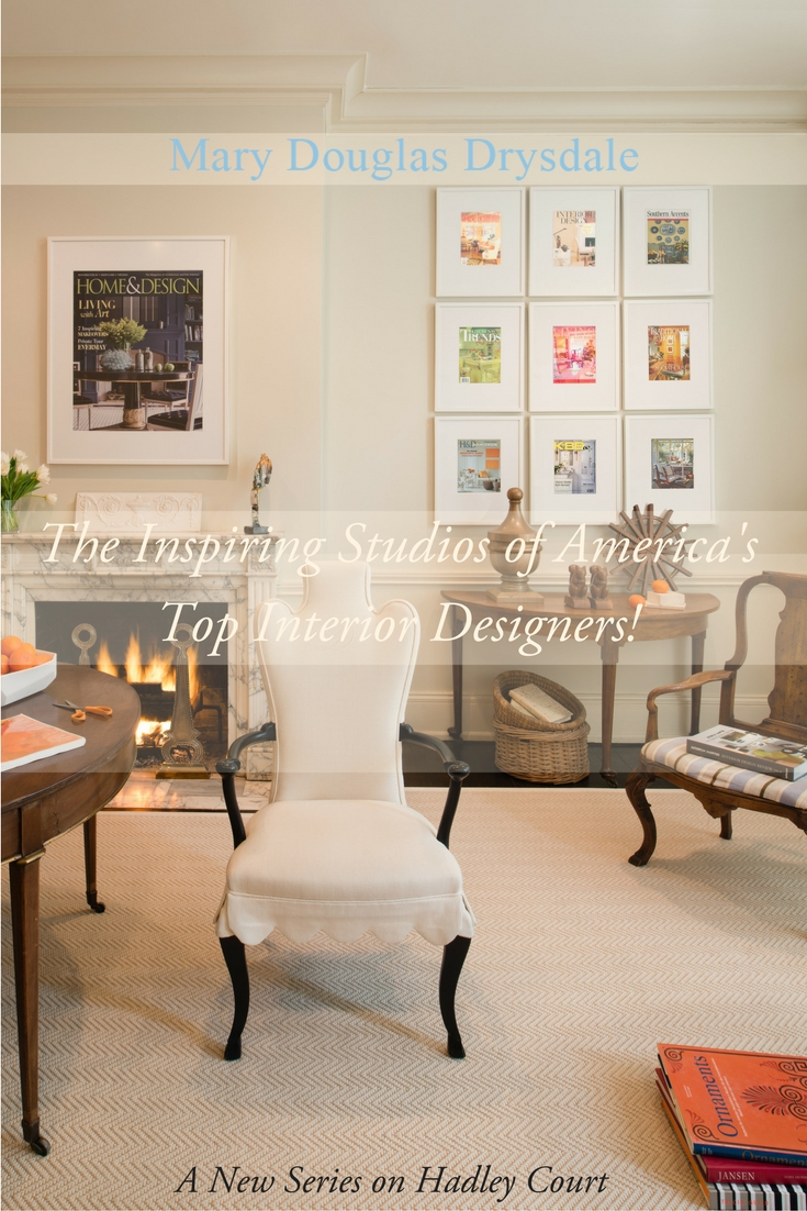 The beautiful design studio and office of one of America's top designers, Washington, DC based Mary Douglas Drysdale, founder, Drysdale Design Associates.